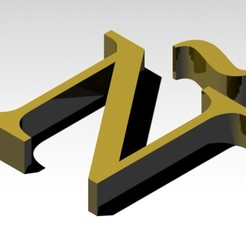 Télécharger plan imprimante 3D gatuit Lettre Ñ de l'alphabet (SANS SUPPORT), Molina
