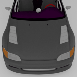02.png Download STL file CAR HOOD AIR INTAKE • 3D printing template, edo3d