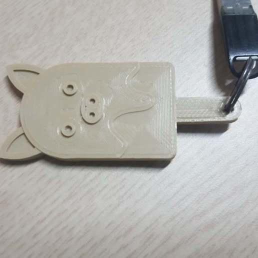 Télécharger fichier STL gratuit Porte-clé cochon • Objet pour impression 3D, hoangdai4017