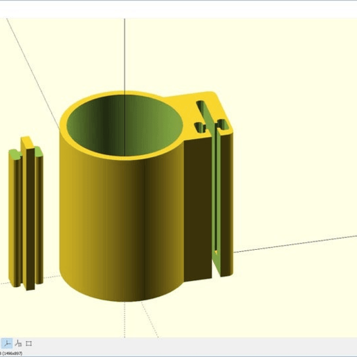 CustomizerOpenSCAD.png Download free SCAD file Customizable Cup Holder Generator( Parametric) • Model to 3D print, joaolsneto