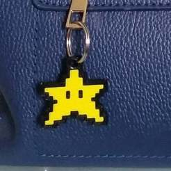 Download free STL files Star Keychain - Super Mario World - (Dual Extrusion), joaolsneto