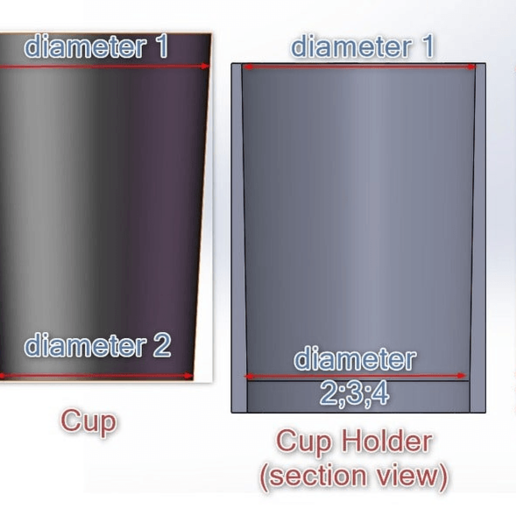 CupHolderDesignView.png Download free SCAD file Customizable Cup Holder Generator( Parametric) • Model to 3D print, joaolsneto