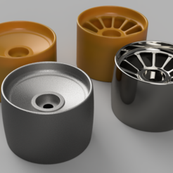 Download 3D printing files Set wheels for drift Hexagon 17mm, alejandro998