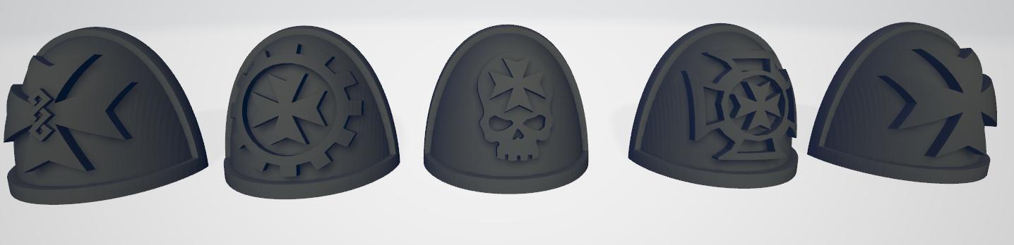 Thumb 2.png Download STL file Black Templars Unit Icons Moulded Hard Transfers & Shoulder Pads • 3D printer design, Hyfryd