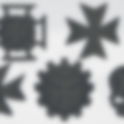 Apothocary .stl Download STL file Black Templars Unit Icons Moulded Hard Transfers & Shoulder Pads • 3D printer design, Hyfryd