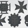 Thumb 1.png Download STL file Black Templars Unit Icons Moulded Hard Transfers & Shoulder Pads • 3D printer design, Hyfryd