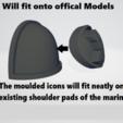 instructions thumb.png Download STL file Black Templars Unit Icons Moulded Hard Transfers & Shoulder Pads • 3D printer design, Hyfryd