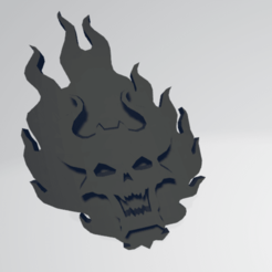 thumb f.png Download STL file Word Bearers Chaos Space Marine Icon Moulded 'Hard Transfer' • 3D printer template, Hyfryd