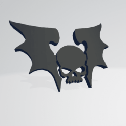 thumb f.png Download STL file Night Lords Chaos Space Marine Icon Moulded 'Hard Transfer' • 3D printable template, Hyfryd