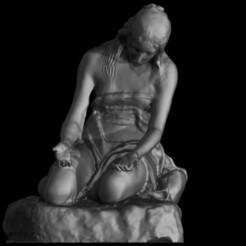 Maddalena penitente (3).jpg Télécharger fichier STL Maddalena penitente Imprimable • Design pour imprimante 3D, danyelon