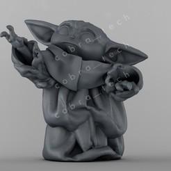 Download 3D printing designs Baby Yoda, cobra_tech