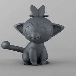Télécharger objet 3D Modèle Grookey Pokemon 3d pour l'impression 3d, cobra_tech