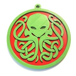 Imprimir en 3D gratis Ornamento de Navidad Cthulhu, pesmonde