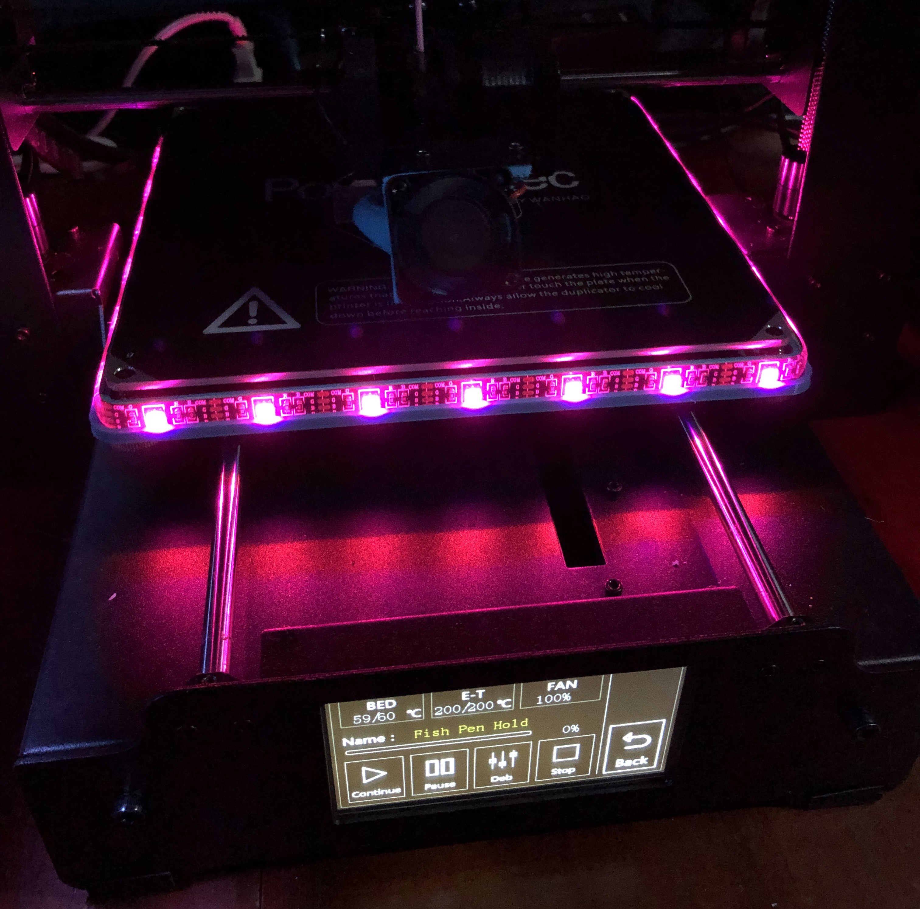 IMG_20190508_002039.JPG Download free STL file Wanhao i3 Plus LED Carriage for Print Bed • 3D printer object, pesmonde
