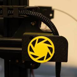 Download free 3D printing files Anycubic Chiron X-Stepper Cover with Cable holder and Knob, exmen