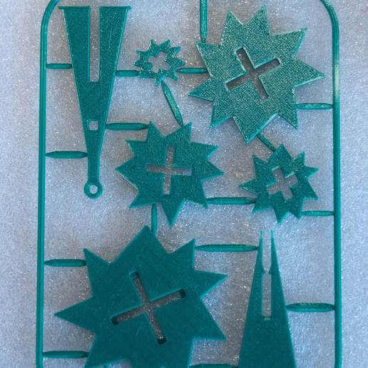 xtree1.jpg Download free STL file Evergreen Tree Xmas Ornament on Card REMIX • 3D printer object, exmen