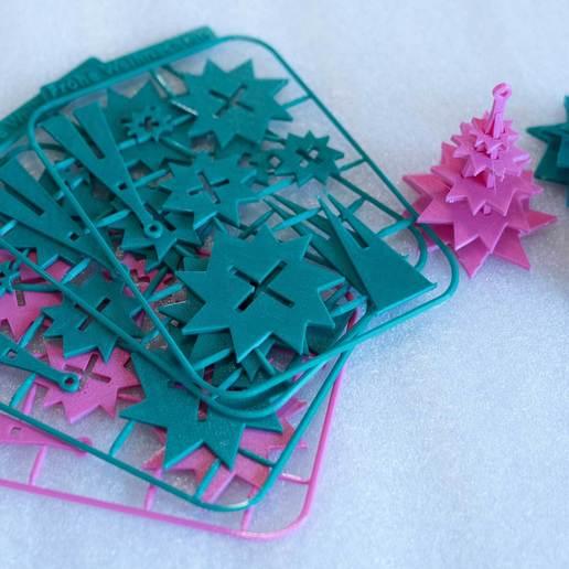 xtree3.jpg Download free STL file Evergreen Tree Xmas Ornament on Card REMIX • 3D printer object, exmen
