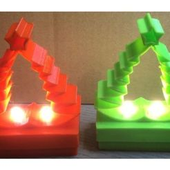 Download free 3D printing templates Illuminated Christmas tree., lianmisael1996
