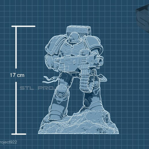 bolter6.jpg Download STL file Astartes with Heavy Bolter • Model to 3D print, STLProject