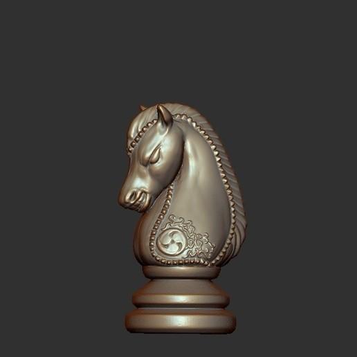 Knight.jpg Télécharger fichier OBJ gratuit Échecs • Modèle imprimable en 3D, STLProject