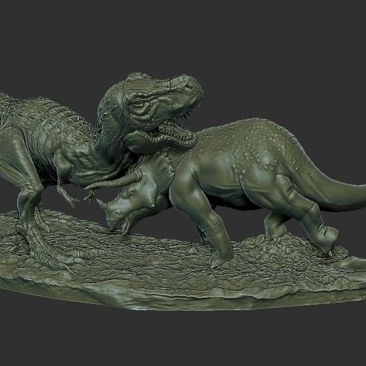 Dinosaur Statue 2.jpg Télécharger fichier STL gratuit Statue du diorama des dinosaures • Design pour imprimante 3D, STLProject