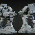 Bolter4.jpg Download STL file Astartes with Heavy Bolter • Model to 3D print, STLProject