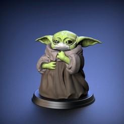 Download 3D printer designs Baby Yoda - Mask Version  - Fan Art, STLProject