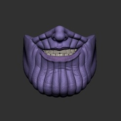Download STL file Thanos Face Mask - Fan Art, STLProject