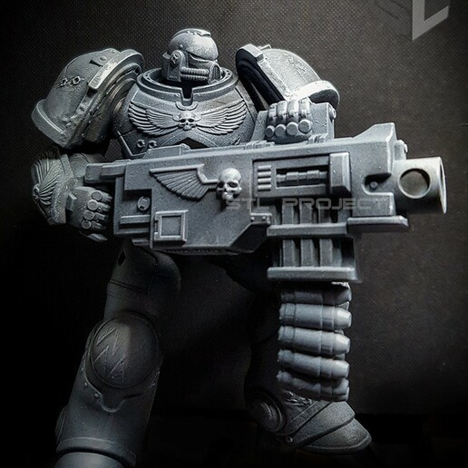 bolter8.jpg Download STL file Astartes with Heavy Bolter • Model to 3D print, STLProject