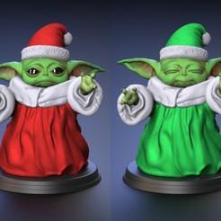 Descargar modelo 3D Bebé Yoda - Versión de traje de Santa Claus - Fan Art, genggi