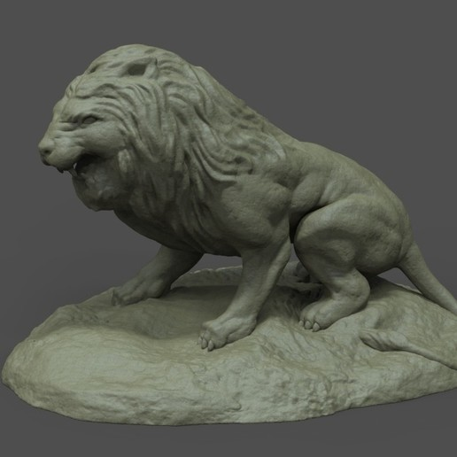 Download free 3D printer files Lion Statue , STLProject