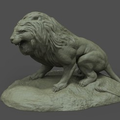 Download free STL file Lion Statue  • 3D printer object, STLProject