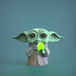 Download 3D printer designs Baby Yoda Mini - Fan Art, genggi