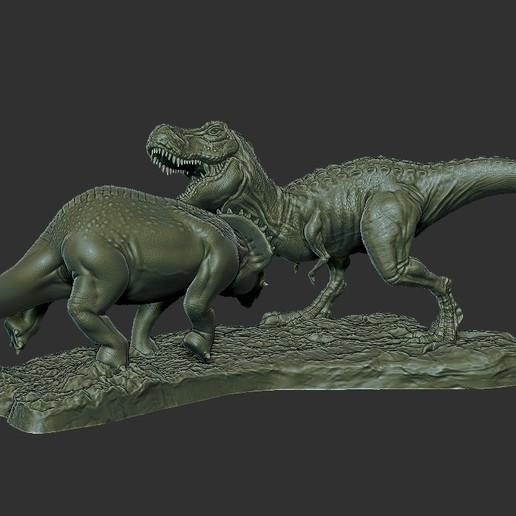 Dinosaur Statue 3.jpg Télécharger fichier STL gratuit Statue du diorama des dinosaures • Design pour imprimante 3D, STLProject