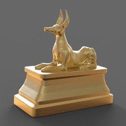 Download free OBJ file Anubis statue • Model to 3D print, STLProject