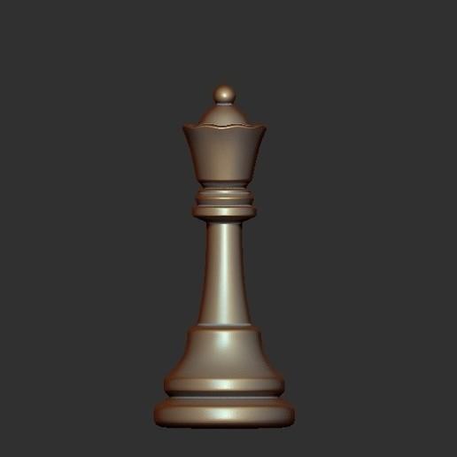 Queen.jpg Télécharger fichier OBJ gratuit Échecs • Modèle imprimable en 3D, STLProject