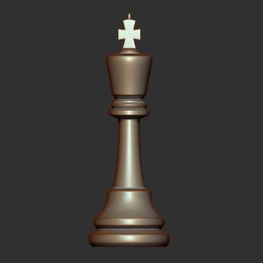 King.jpg Télécharger fichier OBJ gratuit Échecs • Modèle imprimable en 3D, STLProject