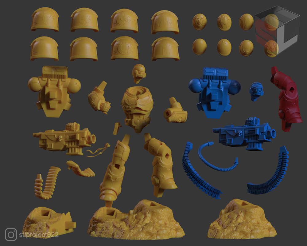 bolter5.jpg Download STL file Astartes with Heavy Bolter • Model to 3D print, STLProject