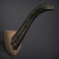 Download free STL Apatosaurus - Head Wall, genggi
