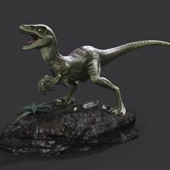 rapter01.jpg Télécharger fichier STL Statue de Raptor • Design à imprimer en 3D, STLProject