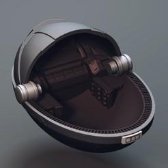 ship5.jpg Download STL file Baby Yoda - Pod - Fan Art • Model to 3D print, STLProject