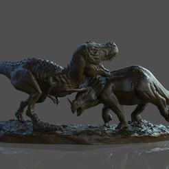Download free 3D print files Dinosaur Diorama Statue, STLProject
