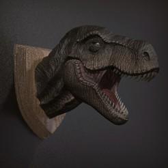 Imprimir en 3D T REX - Pared de la cabeza, STLProject