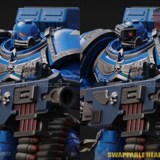 Bolter2.jpg Download STL file Astartes with Heavy Bolter • Model to 3D print, STLProject