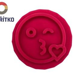 emoji pusinka.jpg Télécharger fichier STL Timbre à biscuit + cutter - Emoji 3 • Objet à imprimer en 3D, Tvoritko