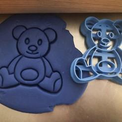 medvíídek.jpg Download STL file Cookie cutter - Teddy Bear • 3D printing model, Tvoritko