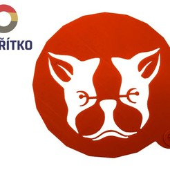 Download 3D printer designs Cake stencil- Boston Terrier 2, Tvoritko