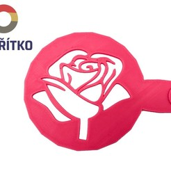 Download 3D printer model Coffee stencil -  Rose, Tvoritko