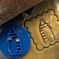 Bez názvu-1.jpg Download STL file Cookie stamp + cutter - Milk • Object to 3D print, Tvoritko