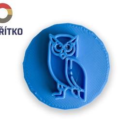 sova 2.jpg Download STL file Cookie stamp + cutter -  Owl • 3D print model, Tvoritko